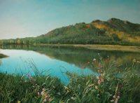 Каркаралинское озеро 2009г. 76х101см. х.м.