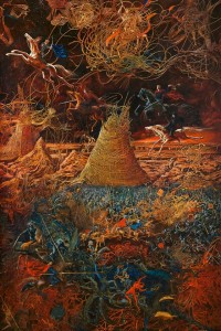 Apocalypse 1992 70,7x47 inches - 180x120sm oil on canvas