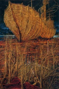 Ark. One hundred years after the flood 1997 70,7x47 inches - 180x120sm, oil on canvas