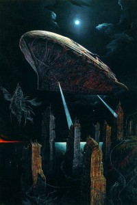 Ark over the city 1997 70,7x47 inches - 180x120sm, oil on canvas