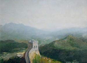 The Great Wall of China 2007 10х13 inches, canvas, oil