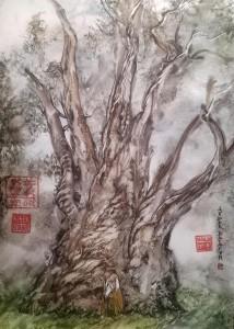 Confucius 2007 19,7x14,2, paper, watercolor