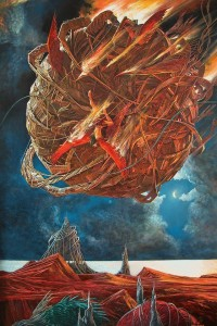 Falling Star 2003 70,7x47, oil on canvas