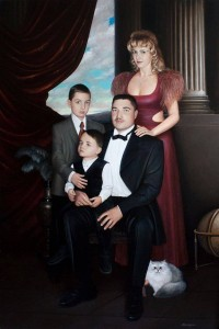 Family portrait 2002 70,7x47, oil on canvas