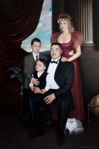 Family portrait 2002 70,7x47, oil on canvas