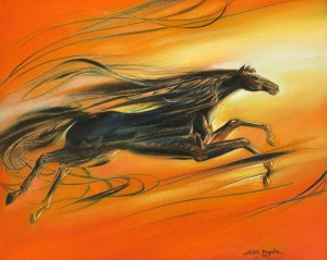 Horse 2015 15,7x19,7, oil, canvas