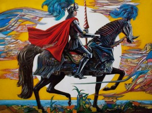 Knight 2015 23,6x31,5 oil on canvas