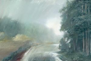 Rain 2015 10x15 inces,canvas, oil