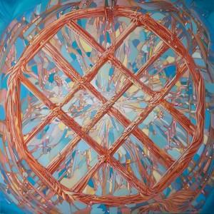 Shanyrak 2015 31,5x31,5 inches, oil on canvas