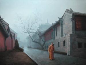 Shaolin  2009 29,9x38,9 inches, oil, canvas