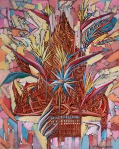 Strelitzias 2015, 19,7x15,7 inches, oil, canvas