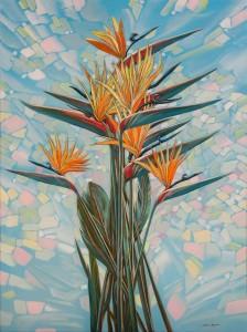 Strelitzias 38,9x29,9 inches, 2015 oil on canvas