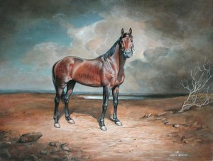 "Horse ""Walfram"" 2005 13.7х10.6 inches, canvas, oil   .7"