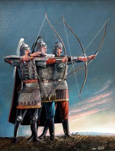 Лучники 2004г. 65х50см х.м.