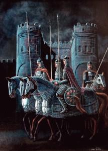 Мамлюки. Ночной дозор в Каире 2005г. 65х50см, х.м.