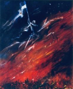 Великий Монсальват 1995г., 70х55см, х.м.
