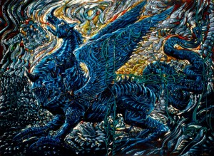 Дракон 130-95 см., 2002г. х. м.
