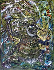 Кецалькоатль 2003г. 85x65см.