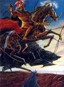 Рыцарь Времени 2001г., 70х55см, х.м.