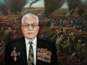 Portrait of S.Z. Zimanov (Famous scientist and public figure of Kazakhstan, World War II Hero) 2010, 29.9х39.7 in., oil on canvas