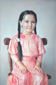 Portrait of Lola 2008, 29.9х19.6 in., oil on canvas