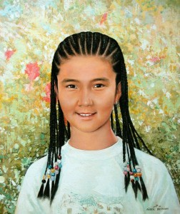 Portrait of girl 2007, 23.6х19.6 in., oil on canvas
