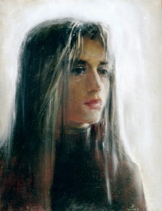 Portrait of young woman 1996г. 65х50см oil on canvas