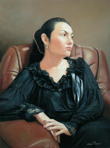 Portrait   oil on canvas