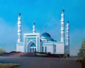 Мечеть в Караганде 2013г. 80х100см х.м.