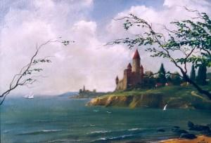Морской пейзаж 1995г., 50х65см, х.м.