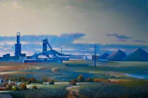 The mine in Karaganda 2011, 70.8х47.2 inches, canvas, oil