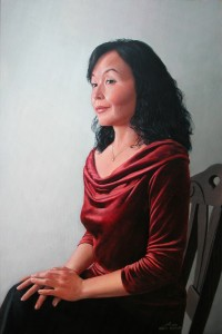 Portrait of Nailya , oil on canvas