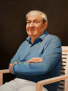 Portrait of Bob Arum-1 2016, 31,4x23,6 inches oil on canvas